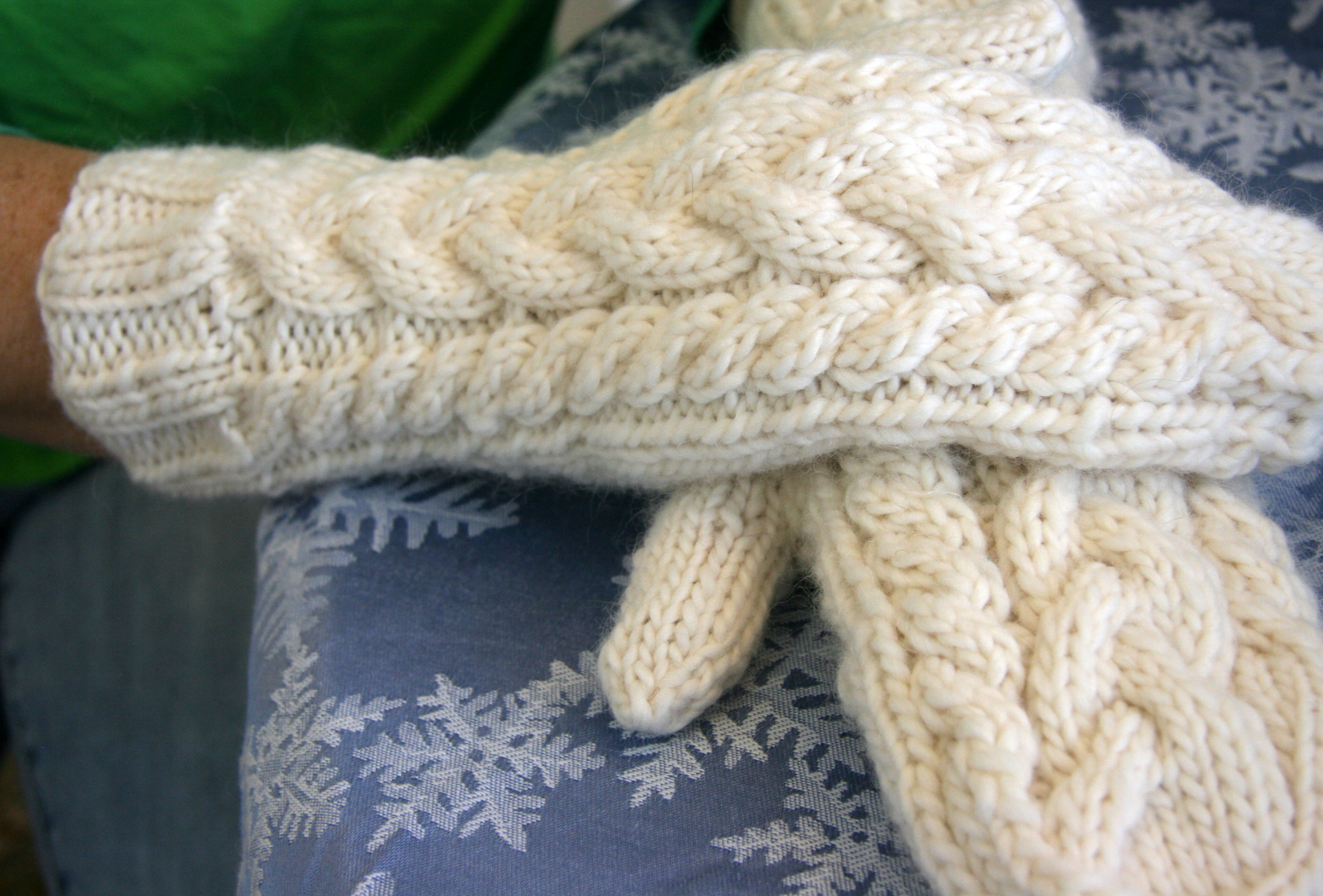 The Day after Christmas and Lofty Cable Mittens | Cpeezers