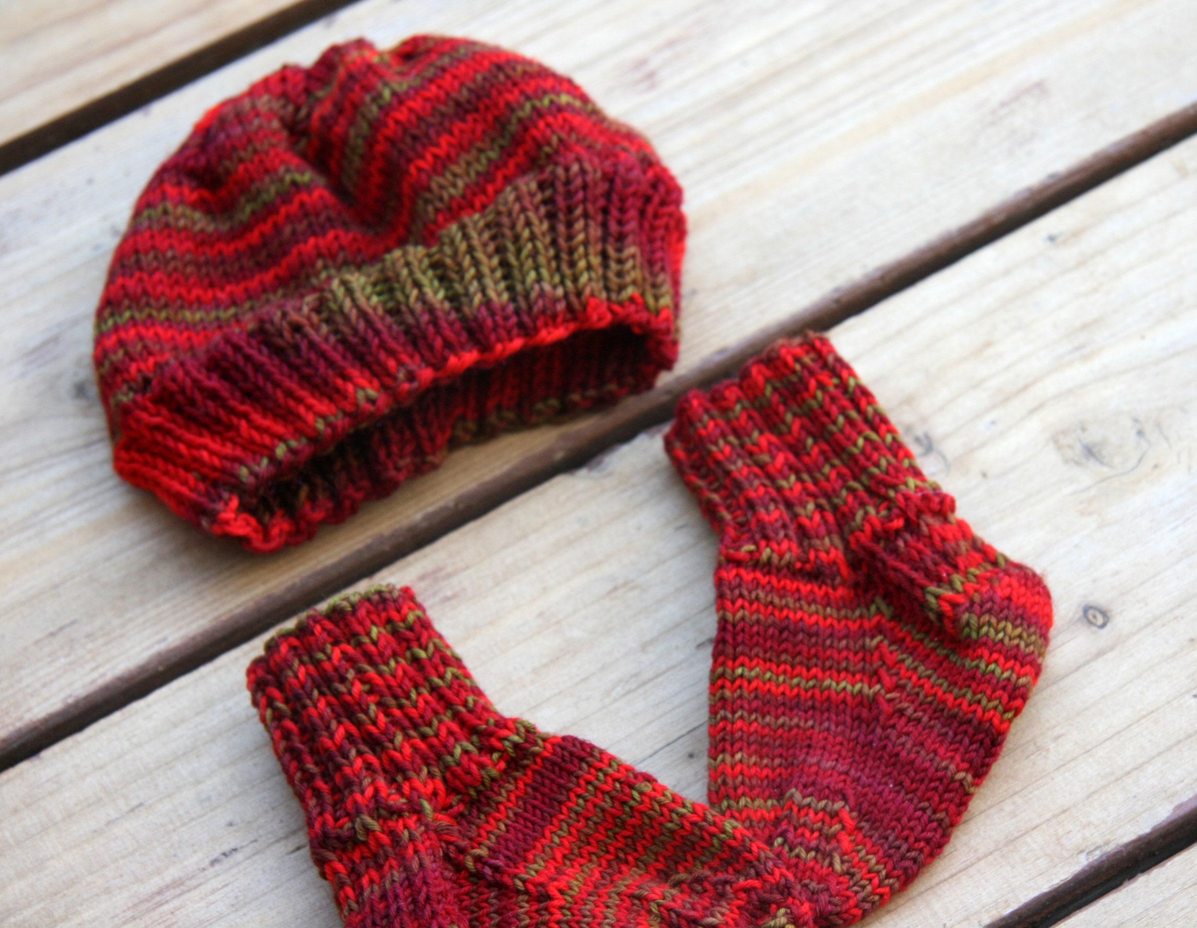 Baby Hat Knitting Pattern Using Sock Yarn