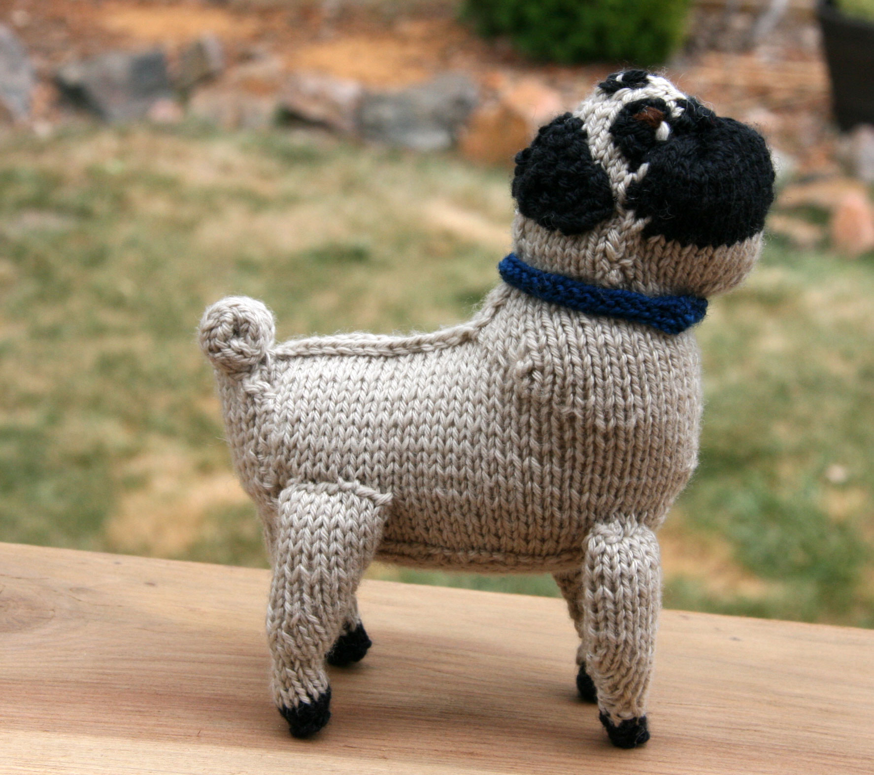 Knitted Pug Pattern : knit your own dog Cpeezers at Home