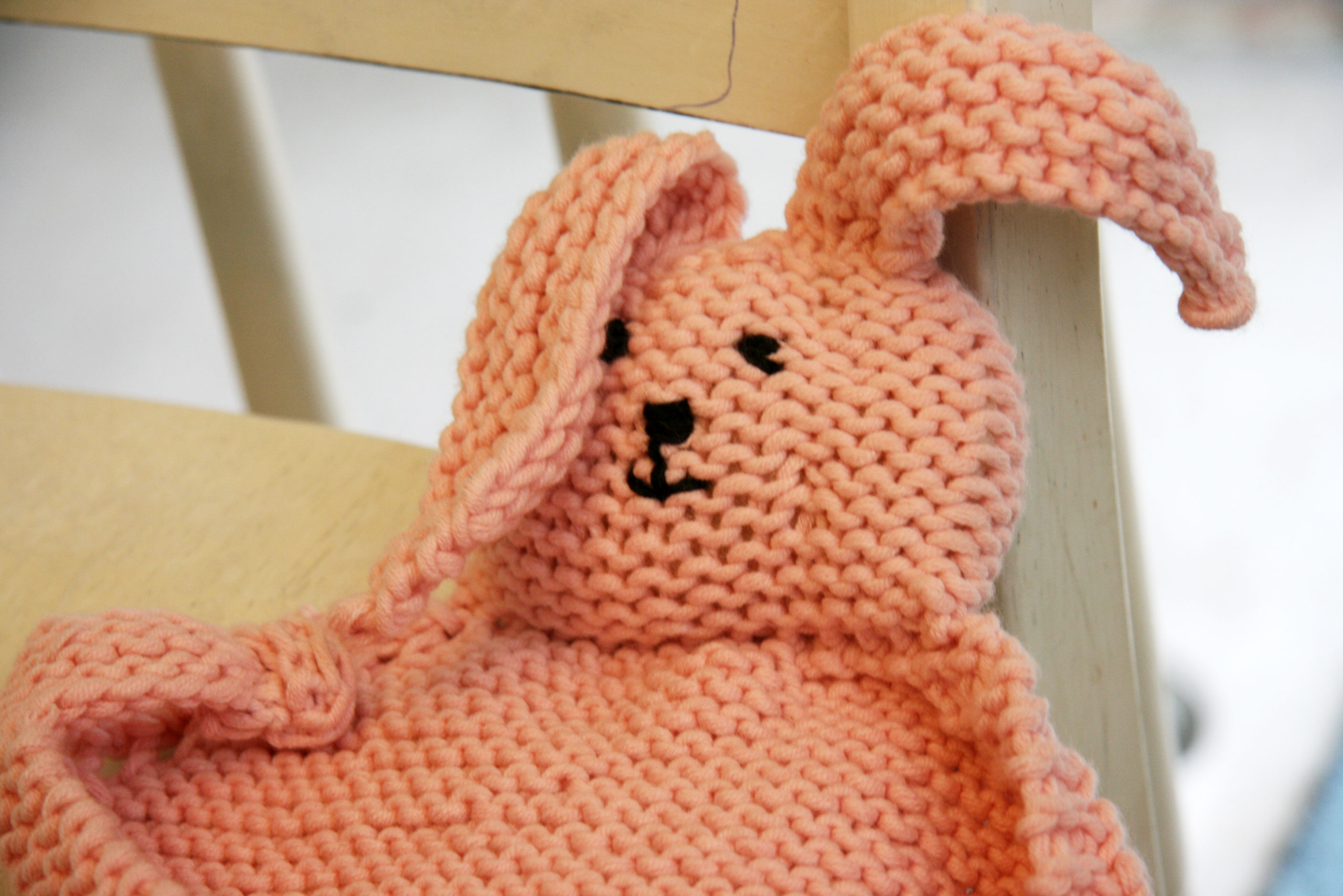 Bunny Blanket Knitting Pattern : Baby Bunny Blanket Buddy and Double Knitting! Cpeezers at Home