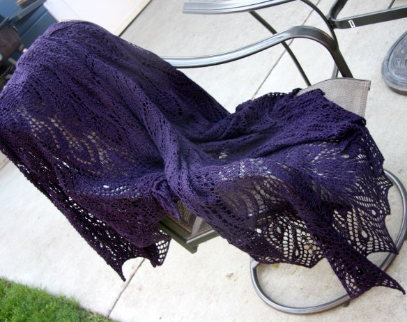 shawl-draped