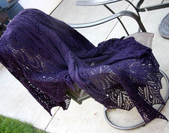shawl-draped