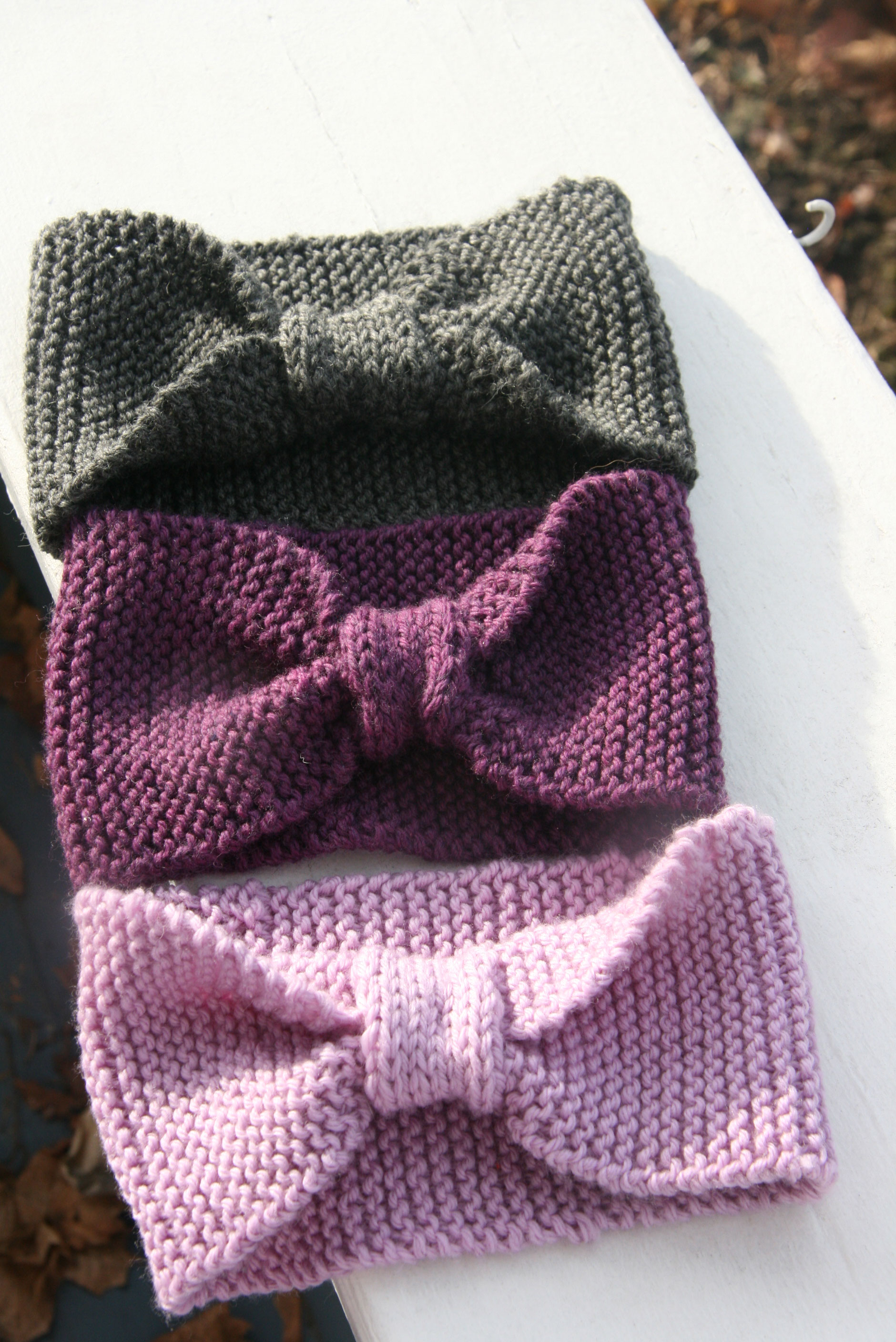 Knitted Baby Headband Pattern Easy : Headbands? Head Wraps? Also known as Earwarmers ...