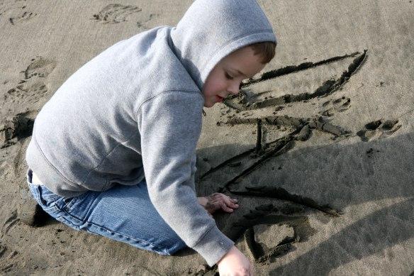 writing-name-sand
